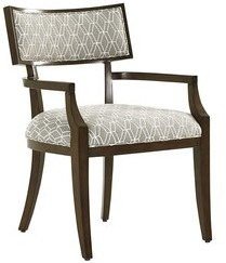 Lexington MacArthur Park Upholstered Arm Chair in Gray