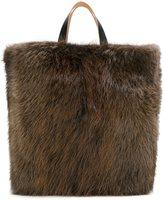 Marni large beaver fur tote