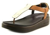 Donald J Pliner Felice Women Open Toe Leather Gold Platform Sandal.