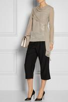 Vera Wang Draped silk top