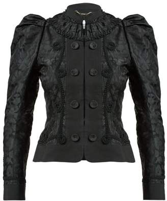 Erdem Lucia Single-breasted Jacquard Jacket - Womens - Black