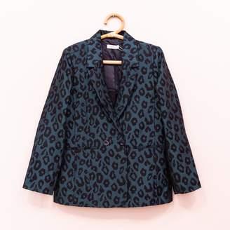 Anine Bing Leopard Blazer - 36 | green - Green/Green