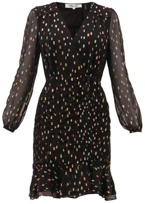 Diane von Furstenberg Bea Lame Fil-coupe Dress - Womens - Black Multi