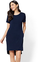 New York & Co. Knit & Woven T-Shirt Dress
