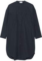 Acne Studios Esloane Cotton-poplin Shirt Dress - Navy