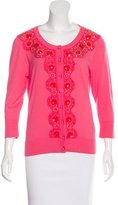 Kate Spade Crystal-Embellished Rib Knit Cardigan