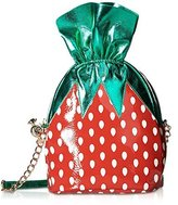 Betsey Johnson Kitsch Strawberry Candy Shoulder Crossbody Bag