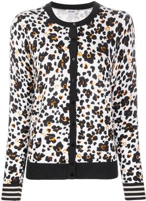 Liu Jo Floral-Print Knitted Cardigan