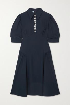 Prada Crystal-embellished Crepe Dress - Blue