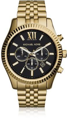 Michael Kors Lexington Gold Tone Chronograph Mens Watch