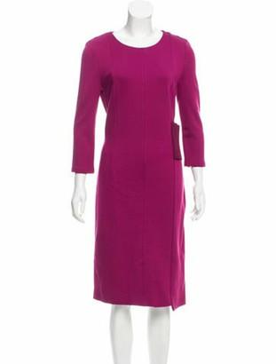 Maison Margiela Midi Sheath Dress w/ Tags Magenta
