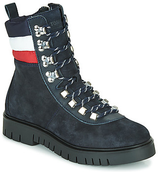 Tommy Jeans PADDED NYLON LACE UP BOOT women's Mid Boots in Blue
