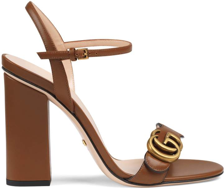 Gucci Leather Double G sandal