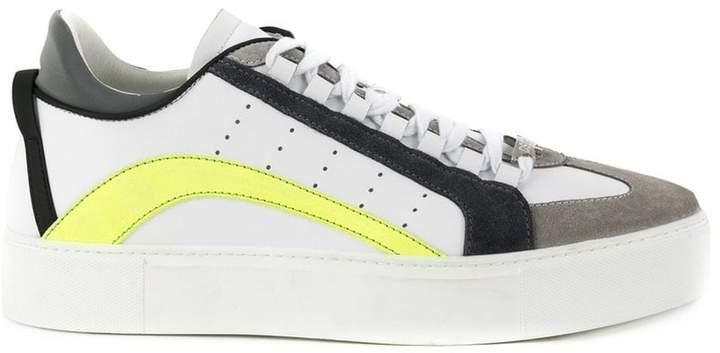 DSQUARED2 neon striped sneakers