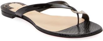 Christian Louboutin Mini Meyer Flat Red Sole Sandals