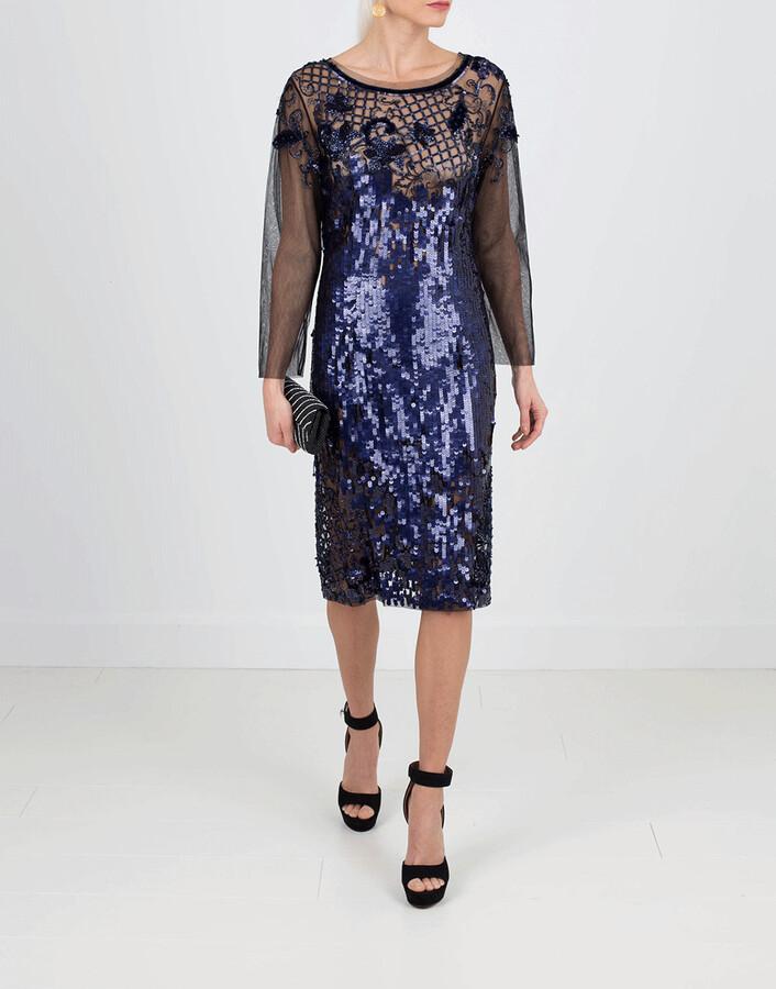 Alberta Ferretti Embroidered Cocktail Dress