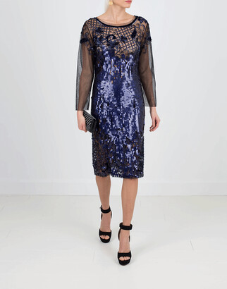 Alberta Ferretti Embroidered Cocktail Dress
