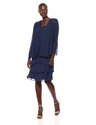 SL Fashions Women's Embellished Jacket Dress