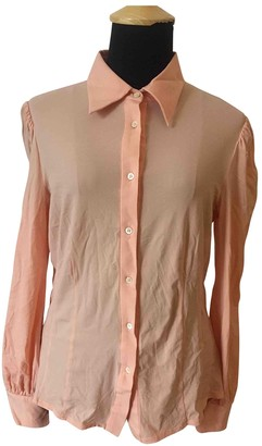 Prada Orange Viscose Tops