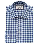 Thomas Pink Plato Check Classic Fit Button Cuff Shirt