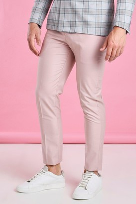 boohoo Mens Pink Skinny Plain Suit Trouser, Pink