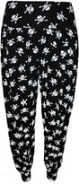 Lush Lane Womens Snake Leopard And Alphabet Print Plus Size Hareem Trousers