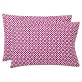 Bohemian Geo Pillowcases, Set of 2, Berry