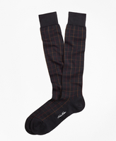 Brooks Brothers Windowpane Over-the-Calf Socks