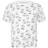 Boys White Ghost Print Arrow Top