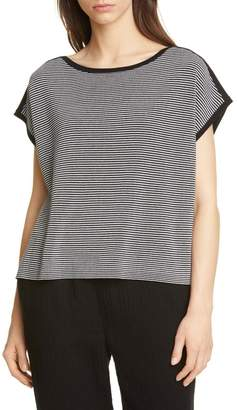 Eileen Fisher Stripe Boxy Silk & Cotton Sweater