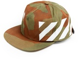 Off-White Diagonals-print cotton-canvas cap