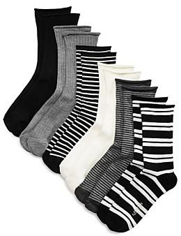 Ralph Lauren Ribbed Double Striped Socks, Set of 6