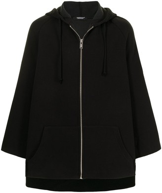 Undercover Draped Cotton-Blend Hoodie