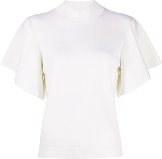 Chloé Ruffle-Sleeve Top