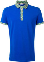 Dirk Bikkembergs print collar polo shirt - men - Cotton/Spandex/Elastane - S