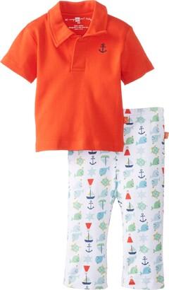 Magnificent Baby Boys Newborn Nantucket Bright Polo Shirt and Pants Set