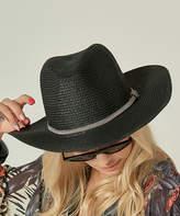 Simmly Women's Sunhats Black - Black Straw Cowboy Hat