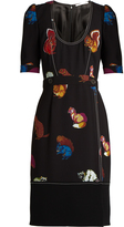 Marco De Vincenzo Squirrel-print crepe dress