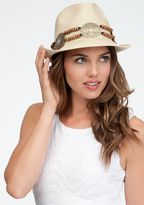 Bebe Medallion Trim Fedora