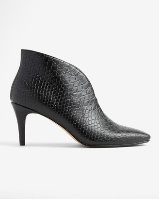 Express Textured Cut-Out Booties