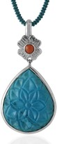 Emma Chapman Jewels Aztec Coral Turquoise Pendant