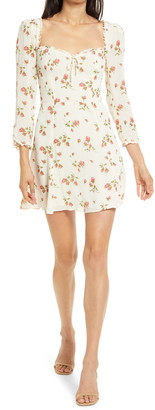 Reformation Remi Floral Long Sleeve Minidress