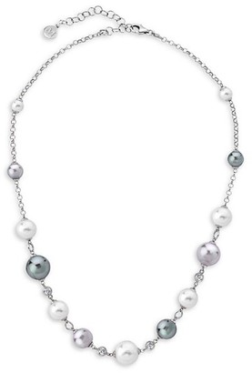 Majorica Exquisite Mixed Faux-Pearl Sterling Silver Necklace