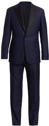Giorgio Armani Micro Fancy Jaquard Wool Tuxedo