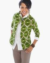 Chico's Modern Ikat-Printed Linen Jacket