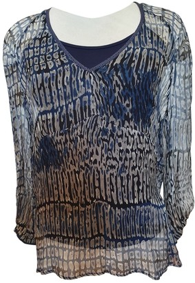 One Step Blue Silk Top for Women