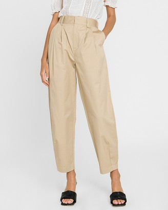 Express Grey Lab High Waisted Tapered Leg Pant
