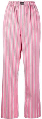 Balenciaga Vertical Stripe Pyjama-Style Trousers