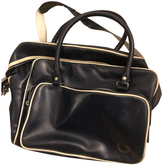 Fred Perry Navy Leather Travel bags