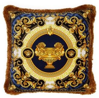 Versace La Coupe Des Dieux Velvet Cushion - Navy Gold